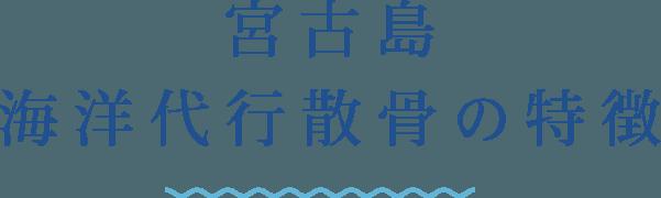 宮古島海洋代行散骨の特徴