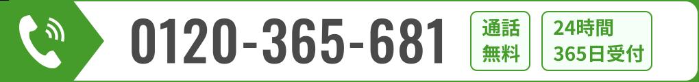 0120-365-681 通話無料 24時間365日受付