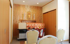 家族葬のトワーズ浜松親族控え室